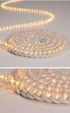 DIY : Crochet LED Light Carpet