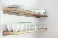 NEST cabin | Franklin | Tennessee | Shelter and Roost | Rustic Shelves | Dishes