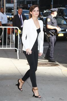 Emma Watson -- I like everything except the heels, those are kind of scary looking.
