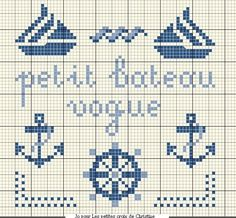 How to make filet crochet lace/opework, free charts, they could be used for cross stitch embroidery two. Cross Stitch Sea, Cross Stitch Borders, Cross Stitch Charts, Cross Stitch Designs, Cross Stitching, Cross Stitch Embroidery, Cross Stitch Patterns, Knitting Charts, Knitting Patterns