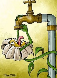 This illustration by Save Water Poster Drawing, Poster On Save Water, Save Environment Posters, Earth Drawings, Save Mother Earth, Save Nature, Creative Posters, Environmental Art, Poster Making