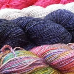 Sparkleduck sock yarns | Photo by Louise Tilbrook Designs