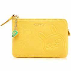 Kakao Friends Yellow Leather Zipper Coin Purse Wallet Holder Case Cute Fashion #BEANPOLE #CoinPurse