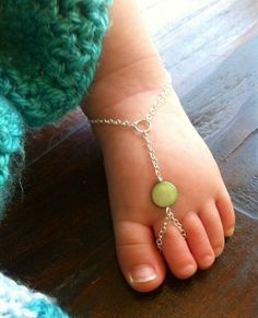 Love it - barefoot baby sandals!