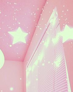 www.thepaletails.com HEAVEN stars sparkly pink holographic pretty as a picture room decor wallpaper