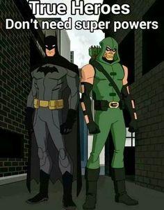 Batman / Green Arrow (I'd add in here Nightwing, [maybe the rest of the bat family] Vigilante, Punnisher, Black Widow, Mockingbird, and Hawkeye)