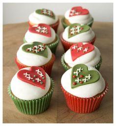 Cupcakes navideños.