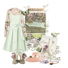 Love the Paris Tea Party theme and the mint green plus retro flare of this dress is so darling.