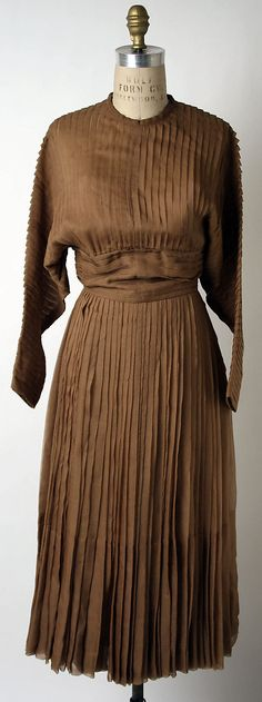 Afternoon Dress, Norman Norell (American, 1900–1972) for Traina-Norell(American, founded 1941): spring/summer 1952, American, silk.