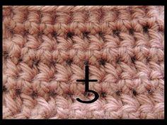 Curso Basico de Crochet : Punto Bajo tomado por la parte de adelante - YouTube
