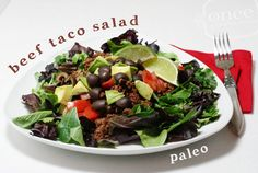Paleo Taco Salad | OAMC from Once A Month Meals