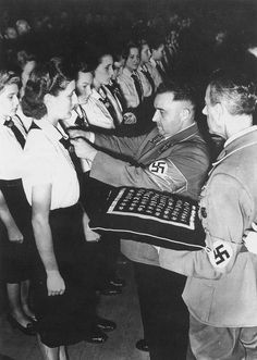 Admission of a group of young women to the German National Socialist Workers' Party, Germany, September 27, 1942