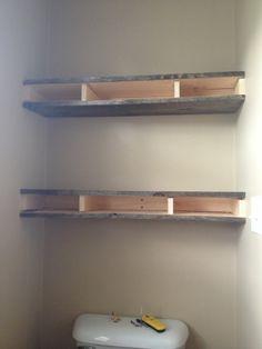 {mis}adventures of the cranes: New Bathroom Shelves!