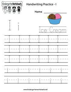 Kindergarten Letter E Writing Practice Worksheet Printable | E is ...