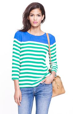 Top in Colorblock Stripe $39.99