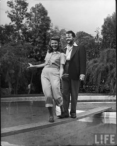 Orson Welles with wife Rita Hayworth