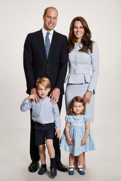 Kate and William Reveal an Adorable New Family Portrait Ahead of Christmas