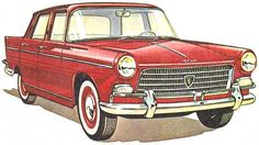 peugeot 404 Peugeot 404, Fiat 500, Tractor, Automobile, Cars, Vintage, Vehicles, Sticker, Comic