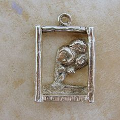 Vintage Sterling Silver Old Faithful Geyser Yellowstone Park Bracelet Charm - eBay Free Shipping $34.90