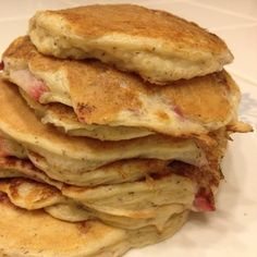 Strawberry Protein Pancakes Featured