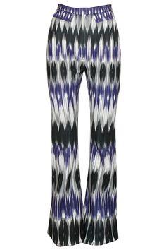 Blue and black ikat printed pants by Hemant and Nandita. Shop now: http://www.perniaspopupshop.com/designers/hemant-and-nandita #pants #hemantandnandita #shopnow #perniaspopupshop
