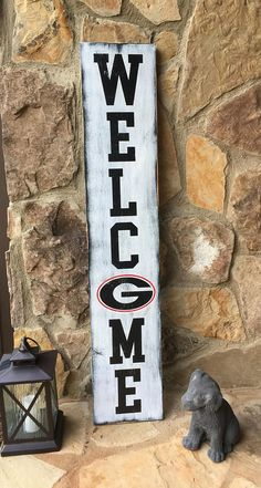 Georgia Bulldogs Front Porch Welcome Sign