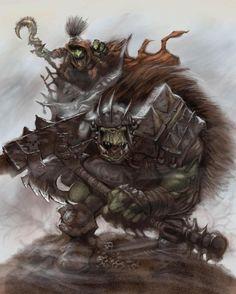 Orc War Boss & Goblin Shaman