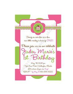 Mod monkey birthday invitation girl photo print your own matching mod monkey birthday invitation girl photo print your own matching party printables available 1200 via etsy birthday ideas pinterest mod monkey filmwisefo Choice Image