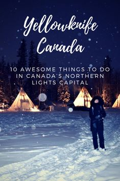 10 awesome things to do in Yellowknife, Canada's northern lights capital. Chase the aurora, go dog-sledding, explore the Old Town and drive an ice road! Backpacking Canada, Canada Travel, Travel Usa, Northern Lights Canada, Northern Lights Holidays, Pvt Canada, Visit Canada, Yellowknife Canada, Bon Voyage