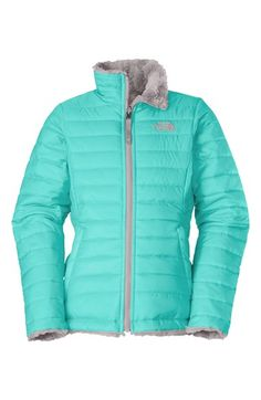 The North Face 'Mossbud Swirl' Reversible Water Repellent Jacket (Little Girls & Big Girls) available at - plum for Olivia The North Face, North Face Girls, North Faces, Online Shopping, Girl Outfits, Cute Outfits, School Outfits, Cute Jackets, Winter Wear