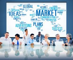 Market Plans Ideas Advertising Business Strategy Concept stock photo
