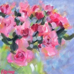 "Daily Paintworks - ""Petite Pinks"" - Original Fine Art for Sale - © Pamela Gatens"