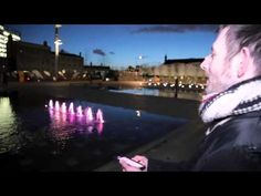 Playing 'Snake' on the Granary Square fountains - YouTube