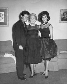 Eddie Fisher, Jennie Grossinger & Elizabeth Taylor at Grossinger's Catskill Resort Hotel