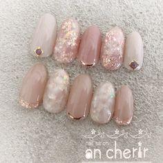 Installation of acrylic or gel nails - My Nails Japanese Nail Design, Japanese Nails, Bright Summer Acrylic Nails, Cute Acrylic Nails, Bride Nails, Wedding Nails, Pink Nails, Gel Nails, Pastel Nails