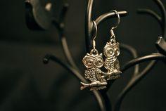 Owl Earrings by PleasanTreesJewelers on Etsy, $7.00