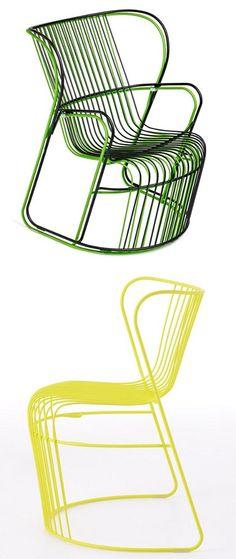 Steel #garden #armchair KASKAD by Nola Industrier   #design Björn Dahlström
