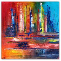 BURGSTALLER Original Gemälde Buntes Wandbild Acrylbild blau gelb rot abstrakt #abstraktekunst #abstractpainting #artwork #abstract #abstrakt #gemäldeabstrakt