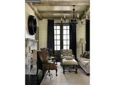 the grid of the door gives such structure...Country Chic | Atlanta Homes & Lifestyles
