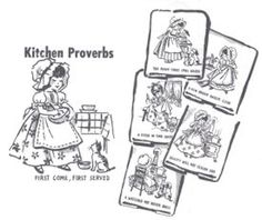 Free vintage embroidery patterns for dish towels and potholders via free kitchen proverbs pattern set lots of free embroidery patterns on this site dt1010fo