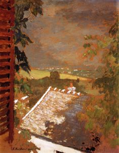 jean-édouard vuillard(1868–1940), window on lac léman, 1900. oil on cardboard, 62 x 49 cm. private collection http://www.the-athenaeum.org/art/detail.php?ID=54909