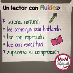 great anchor chart for fluency!