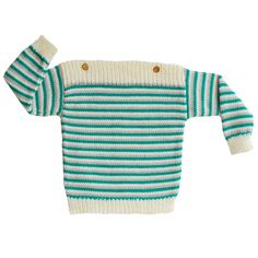 Green Striped Jumper by Si+Lu