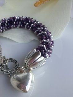 Crochet with rizo beads