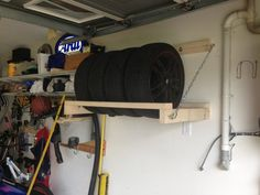 @mbrooks1523 Jeff needs to make this great idea to hold the tires! 16+ Incredibly Simple DIY Storage Ideas for Your Garage