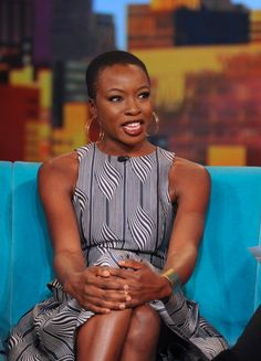 Actress & Playwright Danai Gurira on The View. Danai Gurira plays Michonne on the zombie series The Walking Dead.