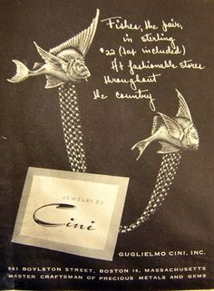 1946 Cini jewelry ad