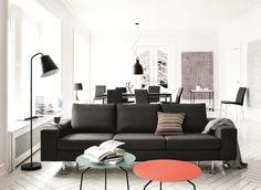 Möbel Zur Aufbewahrung Von Boconcept   Boconcept And Interiors Wohnzimmer Ideen Schwarzes Sofa