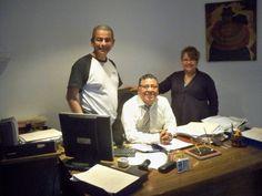 Con el abogado peruano, Alberto Calle.