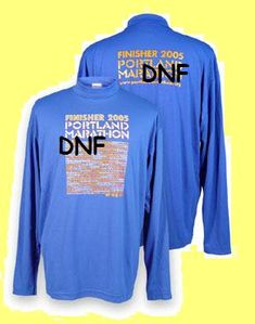 Coach Edu: Race Shirt from a DNF What To Do